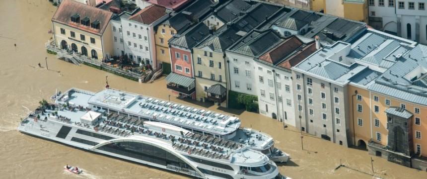 Überflutetes Passau: Das Wasser kam mit Ansage Foto: picture alliance / dpa
