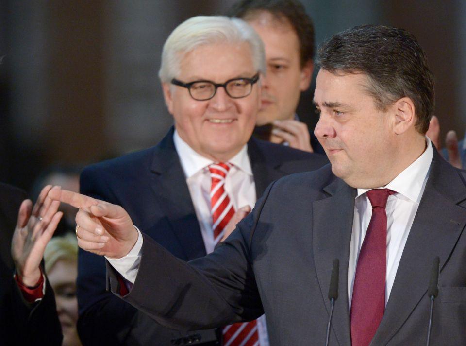 Frank-Walter Steinmeier und Sogmar Gabriel