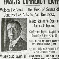 Zeitungsmeldung vom 24.12.1913: Rettungsanker für private Banken Foto: Wikipedia