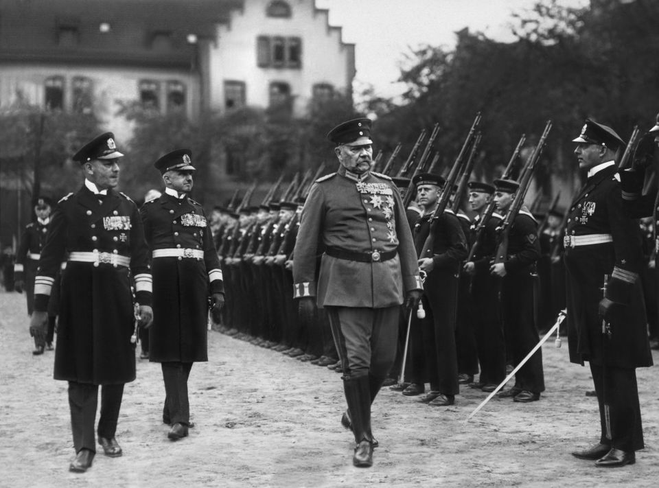 Paul von Hindenburg in Kiel
