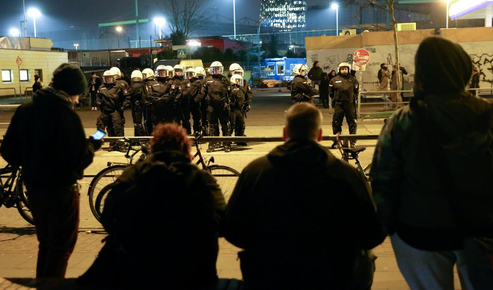 Polizeikontolle in Hamburg
