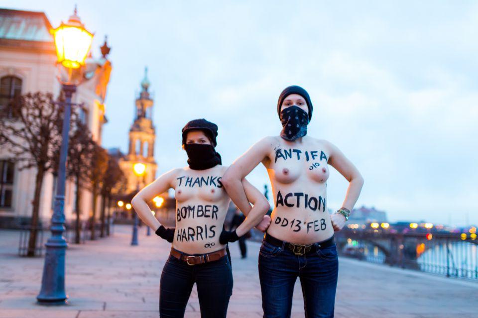 Femen-Aktion in Dresden