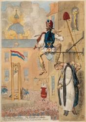 Der Gipfel der Freiheit, Karrikatur von James Gillray (1793) Foto: Wikipedia