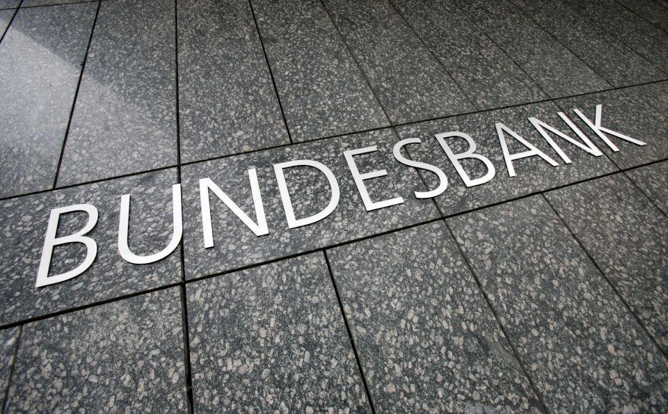 Schriftzug der Bundesbank