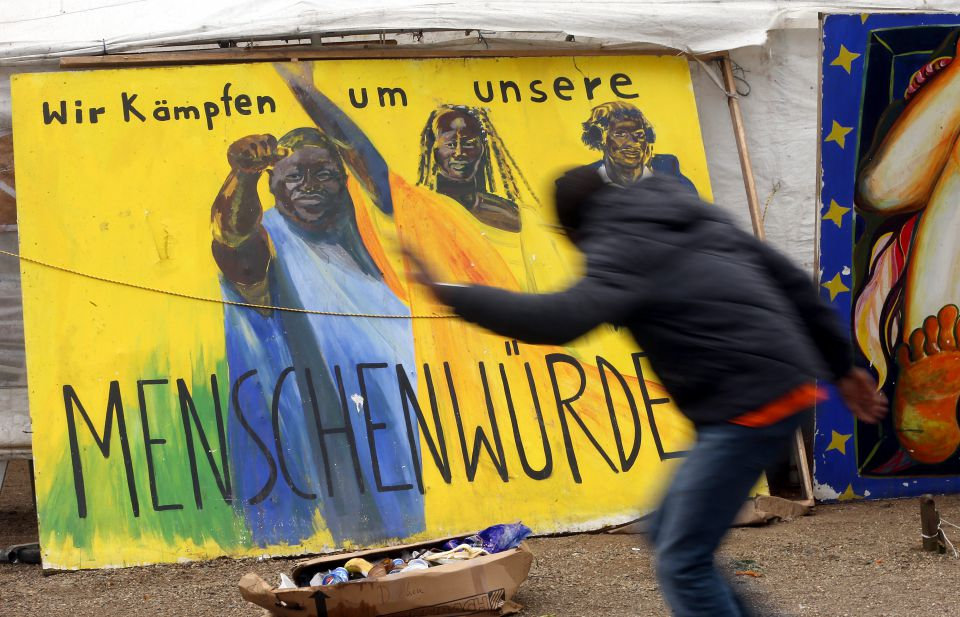 Plakat auf dem Oranienplatz