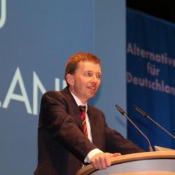 Bernd Lucke bei seinem Bundesvorstandsbericht