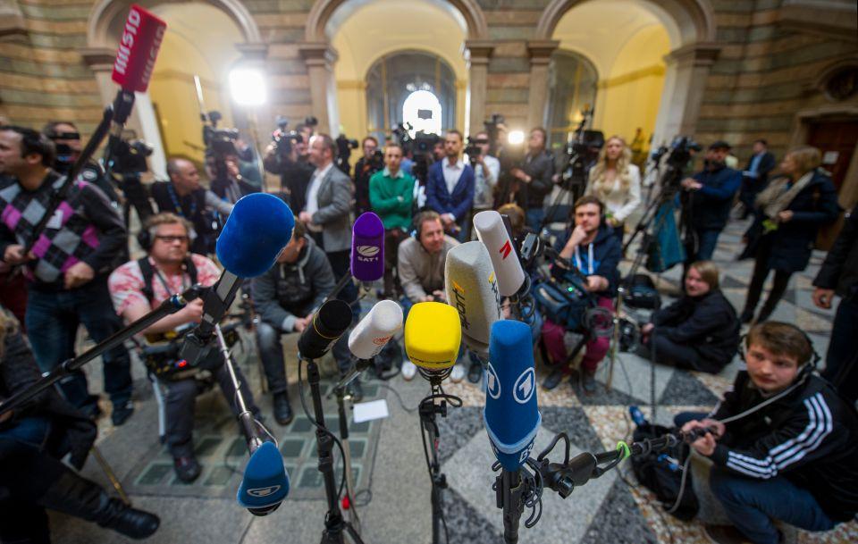 Journalisten beim Hoeneß-Prozeß
