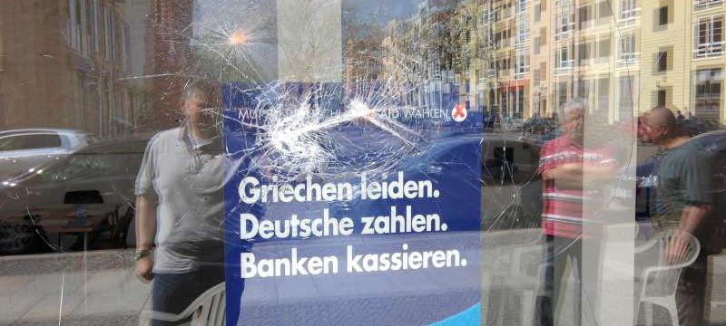 Attackiertes AfD-Wahlbüro in Frankfurt (Oder) Foto: AfD Brandenburg
