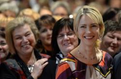 Bundesfamilienministerin Manuela Schwesig auf dem Gleichstellungskongress in Potsdam: Jede Gleichstellungsbeauftragte möchte mitreden Foto: picture alliance / dpa
