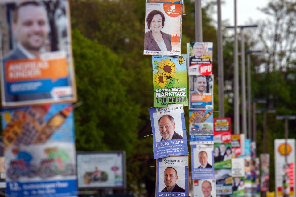 Wahlplakate zur EU-Wahl