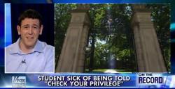 Tal Fortgang bei Fox News: Charakter, nicht Privilegien geerbt Screenshot: JF