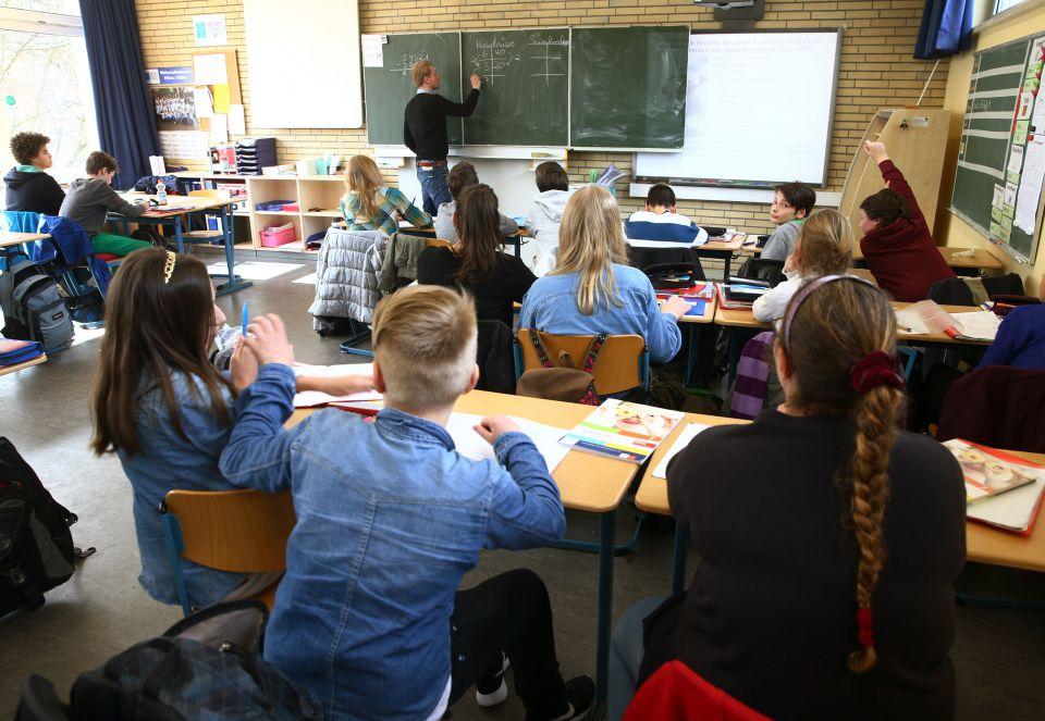 Unterricht in einer Hamburger Schule