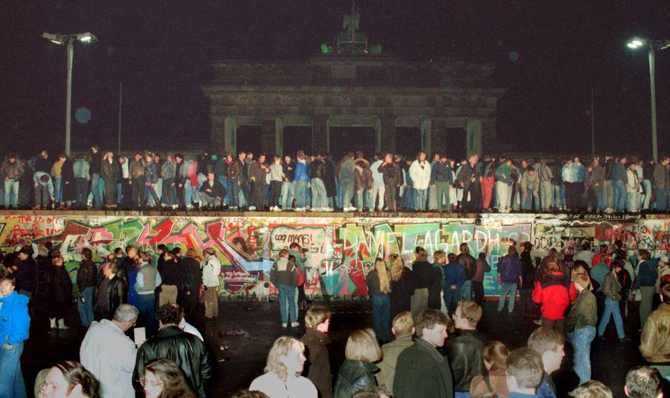 Mauerfall am Brandenburger Tor