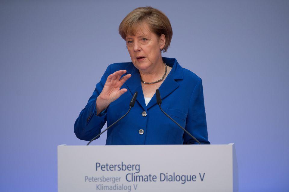 Angela Merkel auf Klimakonferenz in Berlin