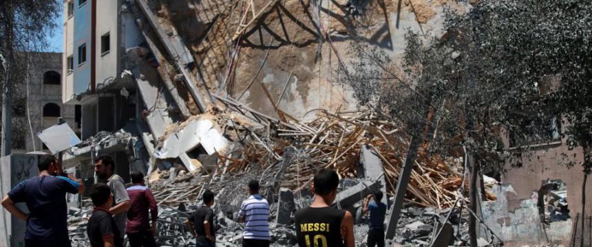 Von der israelischen Armee zerstörtes Gebäude im Gazastreifen Foto: picture alliance/dpa
