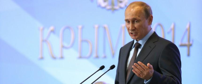 Rußlands Präsident Wladimir Putin am Donnerstag auf der Krim: Gas soll künftig in Rubel abgerechnet werden Foto: picture alliance/dpa