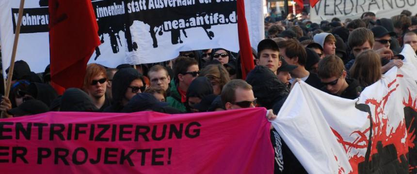 Linksextreme Demonstration in Berlin: Haß auf Andersdenkende Foto: Junge Freiheit