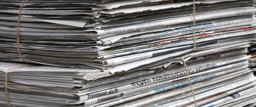 """Zeitungen im Altpapier: Der Vorwurf """"Lügenpresse"""" sitzt Foto: picture alliance / JOKER"""