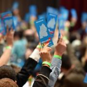 Auf dem AfD-Parteitag soll sich der Machtkampf entscheiden Foto: dpa