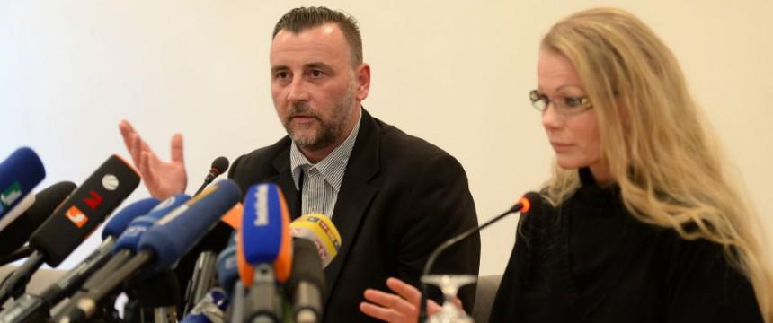 Pegida-Initiatore Lutz Bachmann mit Vereinsmitglied Kathrin Oertel: Als Vorsitzender zurückgetreten Foto:  picture alliance / dpa