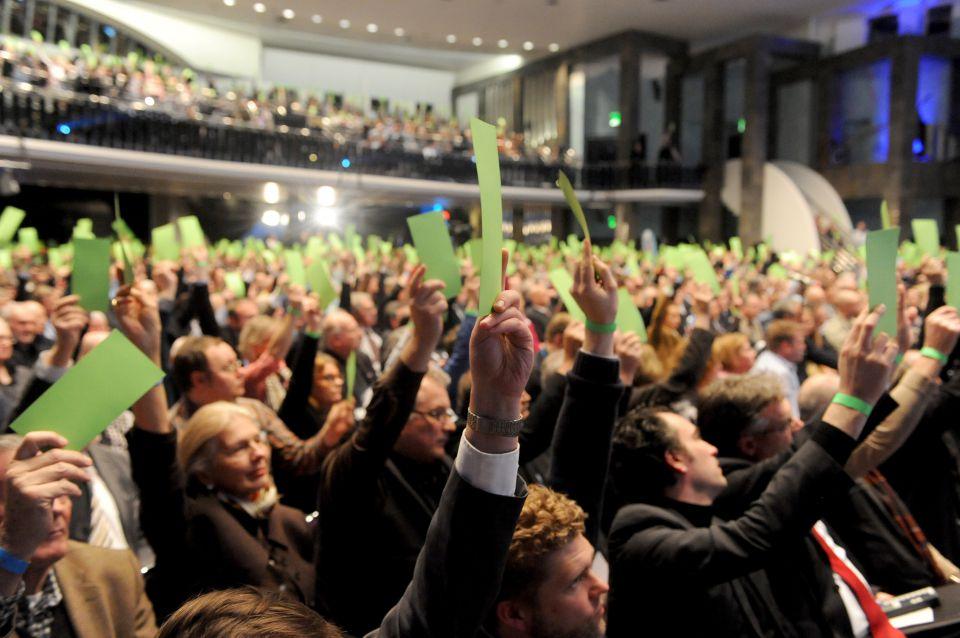 AfD-Mitglieder auf dem Parteitag
