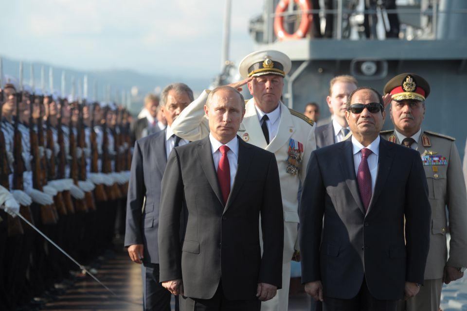 Wladimir Putin und Ägyptens Staatschef Al-Sisi