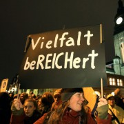 Pro-Asyl-Demo (in München): Vielfalt bereichert Foto: picture alliance/dpa