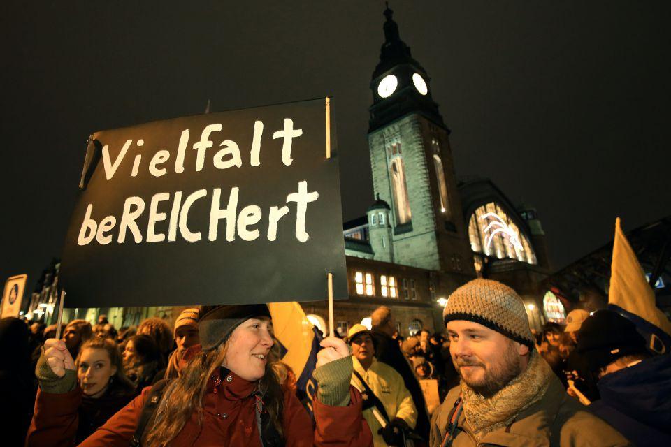 Pro-Asyl-Demo in München