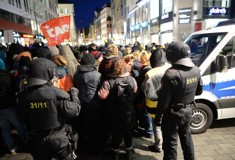 Anti-Legida-Demonstranten