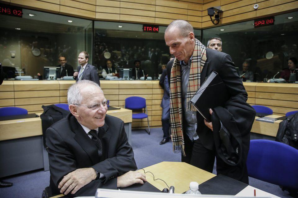 Schäuble (l) und Varoufakis