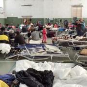 Asylbewerber in einer Turnhalle im sächsischen Schneeberg Foto: picture alliance/dpa