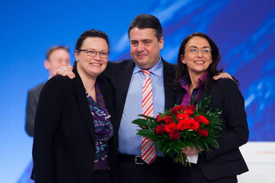 Andrea Nahles, Sigmar Gabriel, Yasmin Fahimi