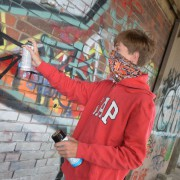 Graffiti-Sprayer (Symbolbild): Haft und Stockschläge Foto:  picture alliance/Arco Images