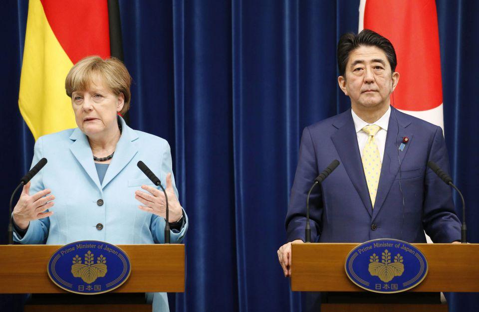 Angela Merkel und Japans Regierungschef Shinzo Abe