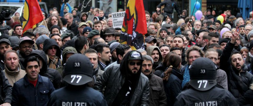 Kurden und Linksextremisten: Viele Demonstrationen in Wuppertal Foto:  picture alliance/AA