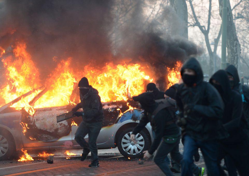 Linksextremisten in Frankfurt