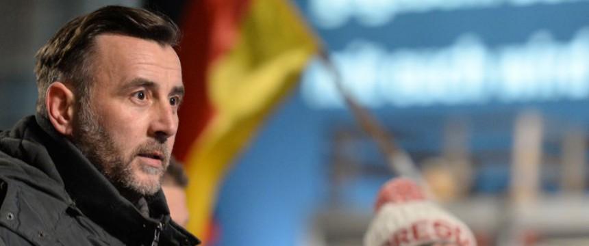 Pegida-Chef Lutz Bachmann: In Dresden steigen die Teilnehmerzahlen der Demonstrationen wieder Foto: picture alliance/dpa