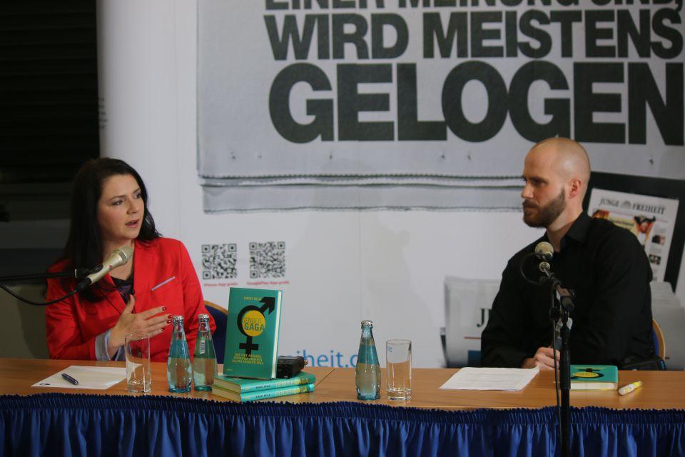 Birgit Kelle (l) und Felix Krautkrämer
