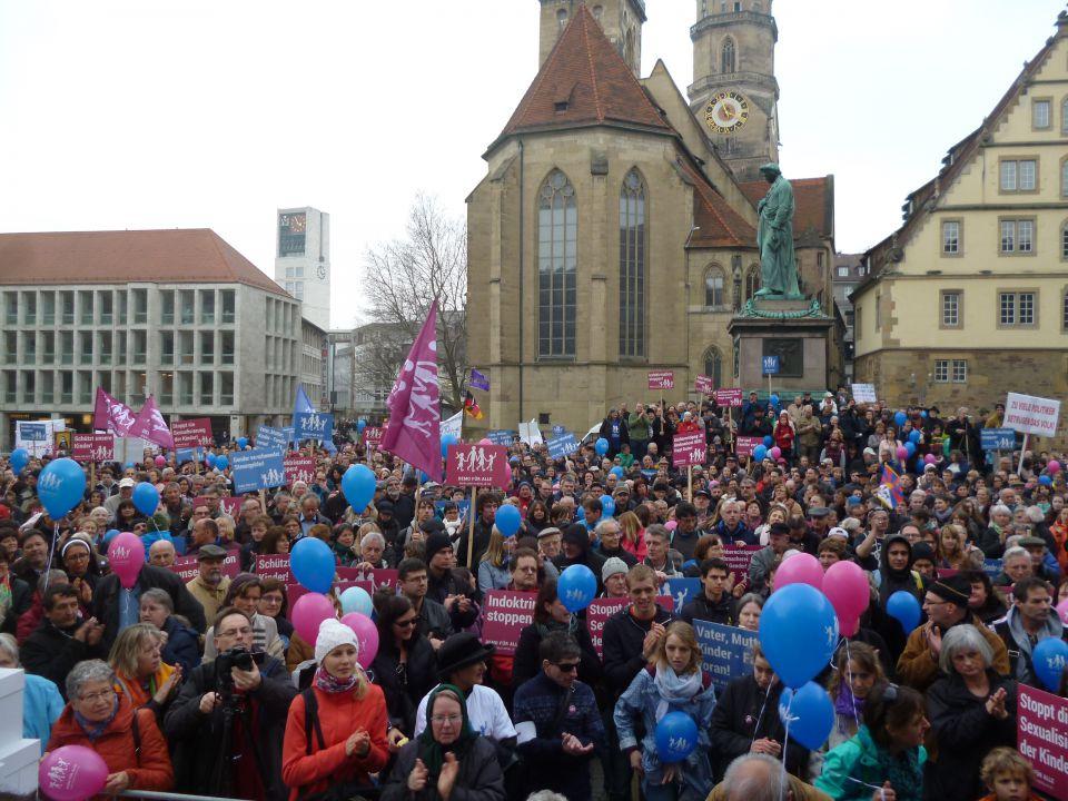 Demonstration in Stuttgart