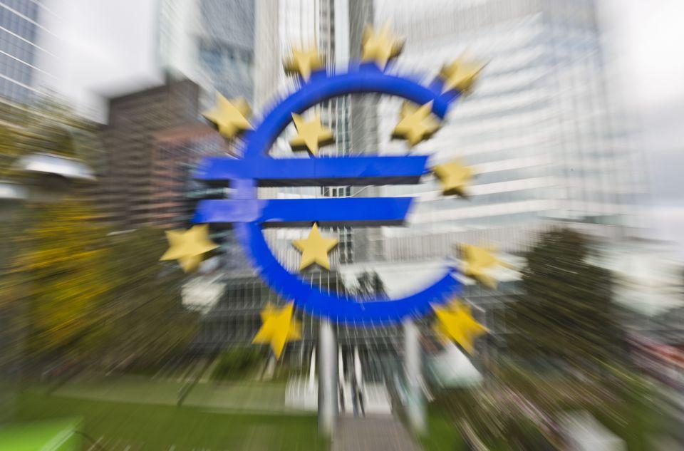 Euro-Symbol vor der EZB-Zentrale