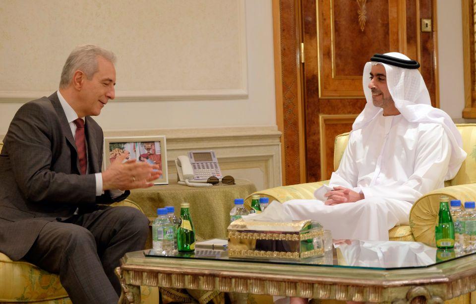 Stanislaw Tillich mit dem Innenminister von Abu Dhabi (Februar)