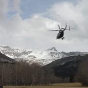 Hubschrauber auf dem Weg zur Absturzstelle von Flug 4U 9525: Das Urvertrauen ist gebrochen Foto: picture alliance / dpa