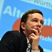 AfD-Chef Bernd Lucke: Der Partei droht die Spaltung Foto: picture allaince/dpa