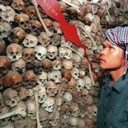 Schädel von Opfern der Roten Khmer im Tuol-Sleng-Museum in Phnom Penh Foto: picture alliance/dpa