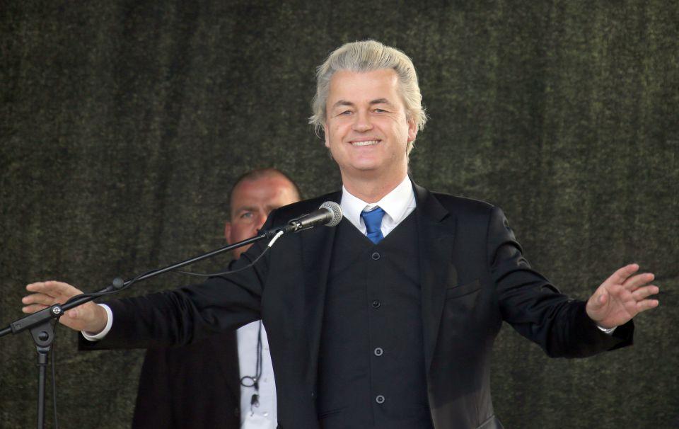 Geert Wilders bei Pegida in Dresden Foto: Picture-Alliance/Jan Woitas