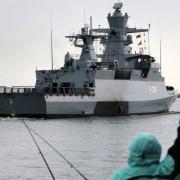 """Korvette """"Magdeburg"""" der Klasse 130, desselben Typen wie die vier von Thyssen Krupp zu liefernden Schiffe Foto: picture alliance / ZB"""