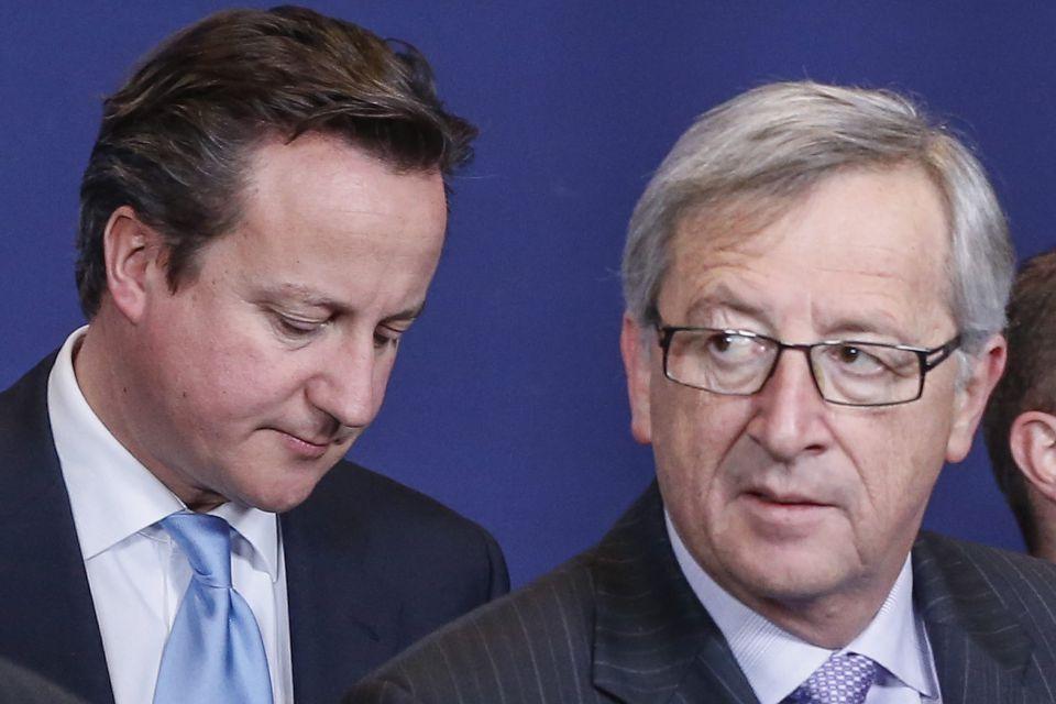 Cameron und EU-Kommissionschef Juncker