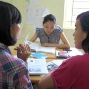 Vietnamesinnen lernen Deutsch: Die SPrache ist unter Druck Foto: dpa