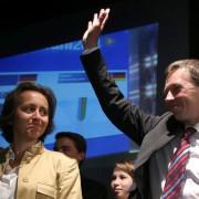 Beatrix von Storch (l) und Bernd Lucke im Mai 2014: Das Tischtuch ist zerrissen Foto: dpa