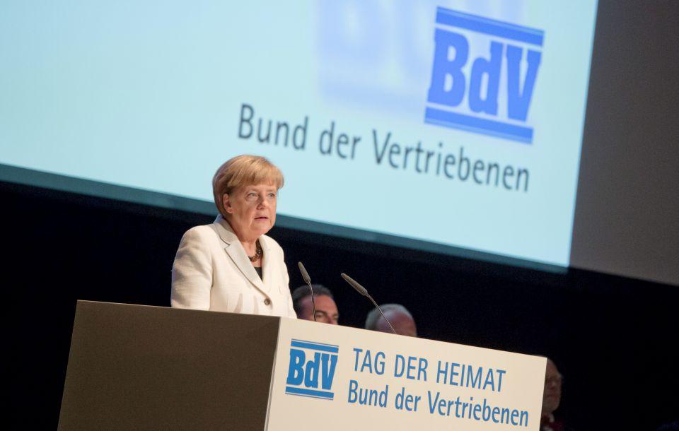 Angela Merkel beim BdV (2014)